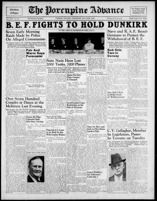 Porcupine Advance, 30 May 1940