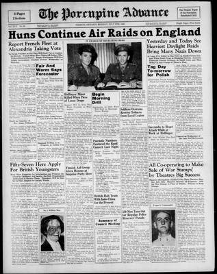 Porcupine Advance, 8 Jul 1940