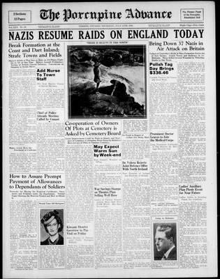 Porcupine Advance, 11 Jul 1940