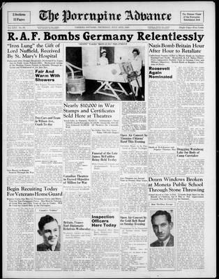 Porcupine Advance, 18 Jul 1940