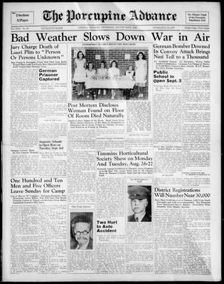Porcupine Advance, 22 Aug 1940