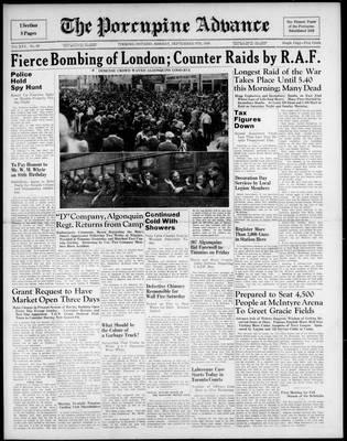 Porcupine Advance, 9 Sep 1940