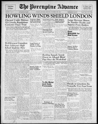 Porcupine Advance, 7 Oct 1940