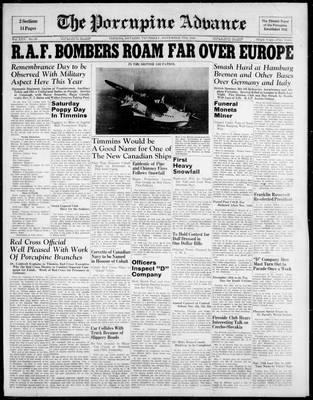 Porcupine Advance, 7 Nov 1940