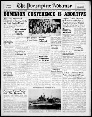 Porcupine Advance, 16 Jan 1941