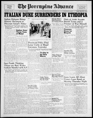 Porcupine Advance, 19 May 1941