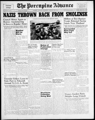 Porcupine Advance, 7 Aug 1941