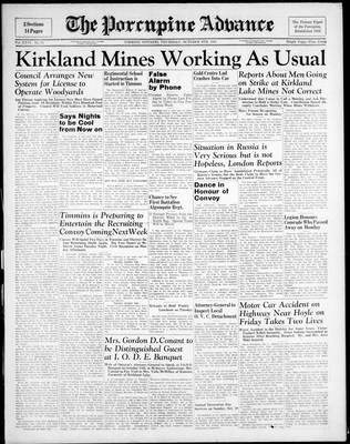 Porcupine Advance, 9 Oct 1941