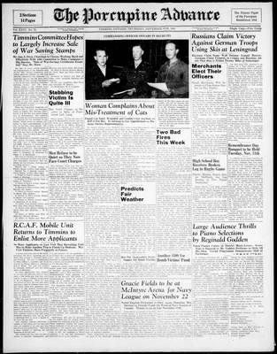 Porcupine Advance, 6 Nov 1941