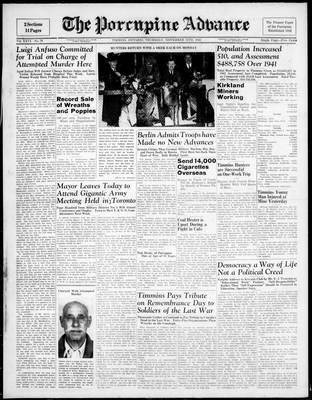 Porcupine Advance, 13 Nov 1941