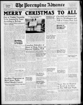 Porcupine Advance, 23 Dec 1941