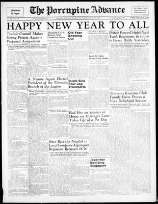 Porcupine Advance, 31 Dec 1941