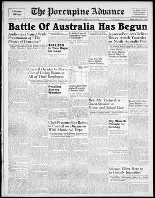 Porcupine Advance, 19 Feb 1942