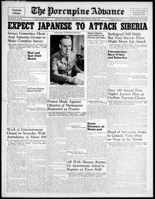 Porcupine Advance, 17 Sep 1942