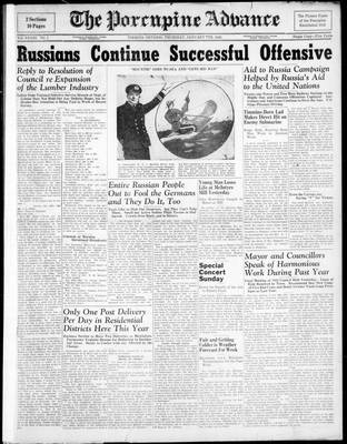 Porcupine Advance, 7 Jan 1943