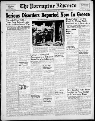 Porcupine Advance, 1 Jul 1943