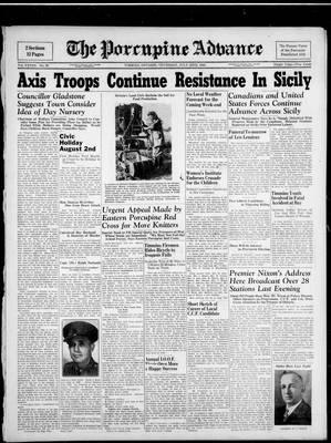 Porcupine Advance, 22 Jul 1943