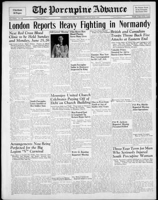 Porcupine Advance, 15 Jun 1944