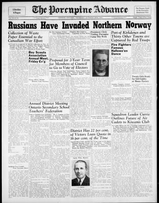 Porcupine Advance, 26 Oct 1944