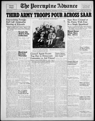 Porcupine Advance, 7 Dec 1944