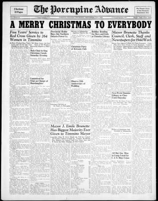 Porcupine Advance, 21 Dec 1944
