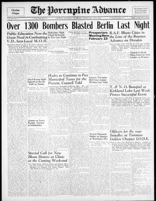 Porcupine Advance, 15 Feb 1945