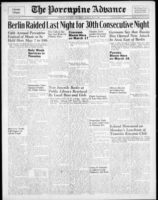 Porcupine Advance, 22 Mar 1945