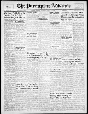 Porcupine Advance, 7 Mar 1946