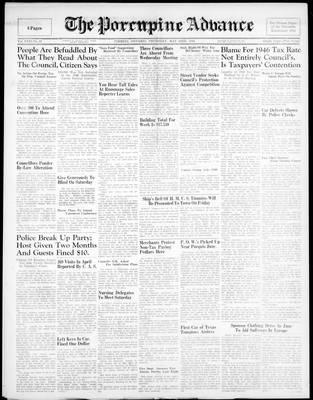 Porcupine Advance, 23 May 1946