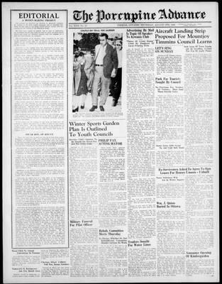 Porcupine Advance, 8 Aug 1946