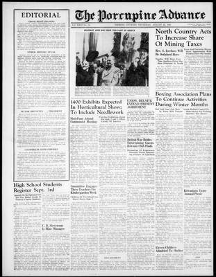 Porcupine Advance, 22 Aug 1946