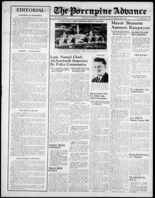 Porcupine Advance, 26 Sep 1946