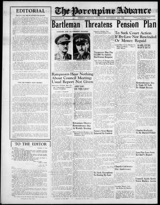 Porcupine Advance, 14 Nov 1946