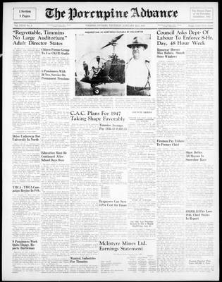 Porcupine Advance, 23 Jan 1947