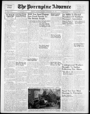 Porcupine Advance, 18 Sep 1947
