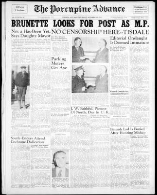 Porcupine Advance, 9 Oct 1947