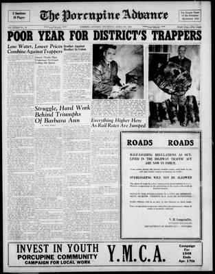 Porcupine Advance, 8 Apr 1948