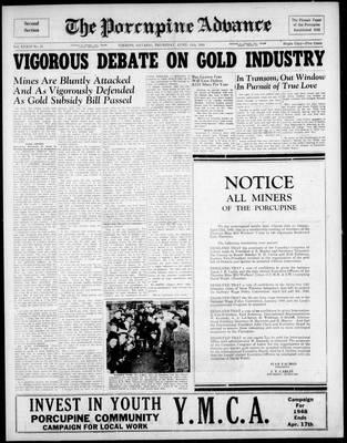 Porcupine Advance, 15 Apr 1948
