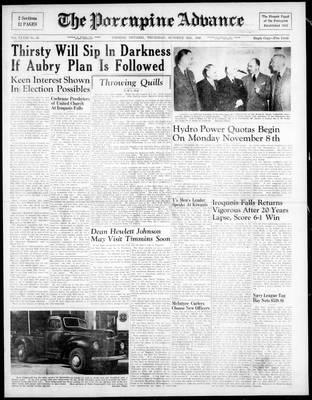 Porcupine Advance, 28 Oct 1948