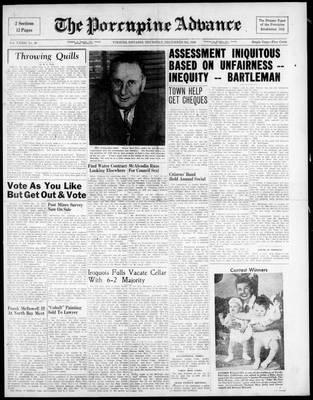 Porcupine Advance, 9 Dec 1948