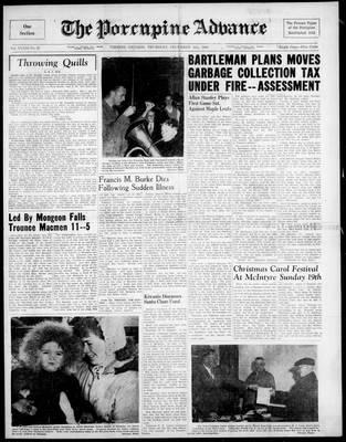 Porcupine Advance, 16 Dec 1948