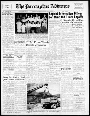 Porcupine Advance, 25 Aug 1949