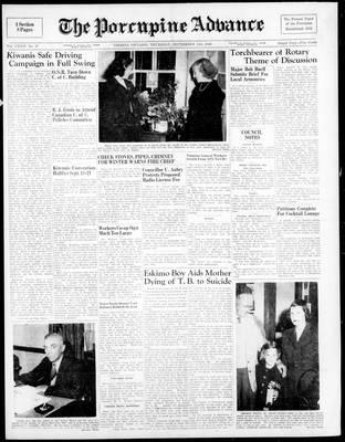 Porcupine Advance, 15 Sep 1949