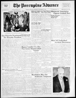 Porcupine Advance, 3 Nov 1949