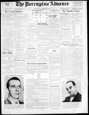 Porcupine Advance, 15 Dec 1949