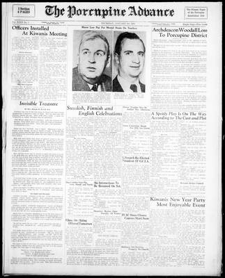 Porcupine Advance, 5 Jan 1950