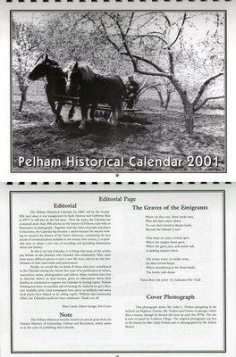 Pelham Historical Calendar 2001