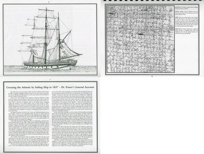 "Pelham Historical Calendar 2001: ""Crossing the Atlantic by Sailing Ship in 1837 - Dr. Frazer's Journal Account"""