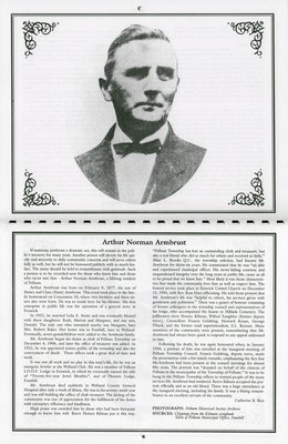 """Pelham Historical Calendar 2001: """"Arthur Norman Armbrust"""""""