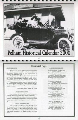 Pelham Historical Calendar 2000